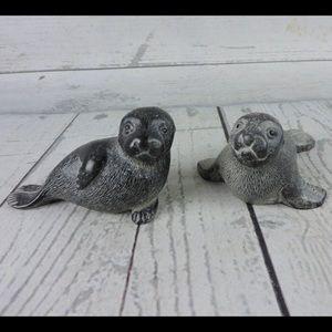 Stone Seal Sea Lion Figurines Set of 2 Canada